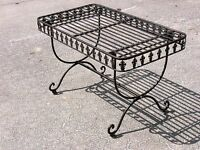 FRENCH DESIGN  garden coffee TABLE antique brown wrought iron quality new