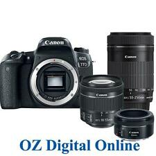 NEW Canon EOS 77D 50+18-55+55-250 Tri STM Lens Kits +32GB 24.2MP Camera 1Yr Wty