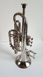 Trompette F. Besson Argentée Grand prix 1900 Paris