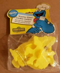 1987 Wilton Sesame Street Cookie Cutters Never Opened