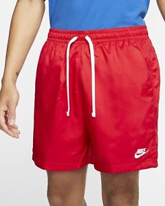 Nike Sportswear NSW Woven Flow Shorts M red/white ar2382 new w/ tags