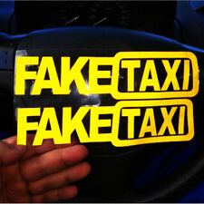 2x FAKE TAXI Car Sticker FakeTaxi Decal Emblem Self Adhesive Vinyl for Car VAN
