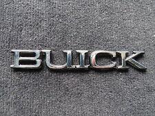 BUICK SCRIPT EMBLEM LETTERS BLACK CHROME 3M REAR BADGE TRUNK
