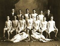 """1912 Lawrence High School Track Team, Lawrence, MA Old Photo 8.5"""" x 11"""" Reprint"""