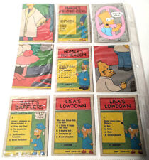 The Simpsons Vintage 1990 Topps Cards Lot of 18 Matt Groening Collectors