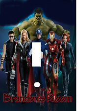 PERSONALIZED AVENGERS HEROS LIGHT SWITCH PLATE COVER
