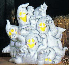 """Ceramic Bisque Ready to Paint """"Ghost Cluster"""" with 5 light blinker light kit"""