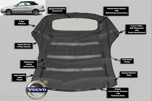 VOLVO C70 Convertible Soft Top Replacement  with Defroster glass Window 99-06