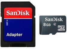 SanDisk 8GB microSD micro SD SDHC class 4 C4 8G microSDHC memory card *w/Adapter