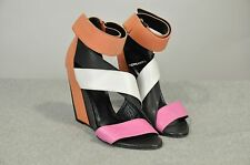 NWOB $945 PIERRE HARDY LEATHER COLORBLOCK STRAPPY SANDALS WEDGE SHOES 36 (US 6)