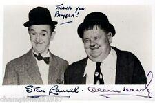 Oliver Hardy-Stan Laurel ++Autogramm++ ++Dick + Doof++3