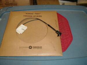 NOS MOPAR 1968 FURY SPORT FURY FRESH AIR VENT CABLE