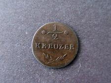1811 German State Wurzburg 1/2 Kreuzer