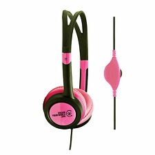 Urbanz VIBE Headphones for Kids Child Childrens DJ MP3 iPod iPad Mini DVD - Pink