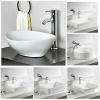 Bathroom Above Counter Porcelain Ceramic Vanity Vessel Sink Art Basin Wash Sink
