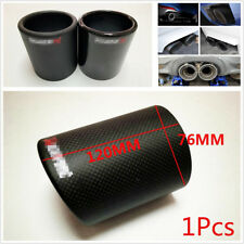 "3""76mm Car Carbon Fiber Exhaust Muffler Pipe Cover Tip Decoration Case With Logo"
