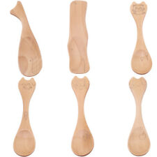 Home Wooden Spoons Cereal Spoon Kids Small Teaspoon Soup Ice Cream Tableware S