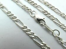 """Taxco Mexican 925 Sterling Silver Figaro Chain Necklace. 9 grams,  22"""", 56 cm"""