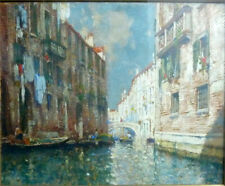 Gemälde Venedig, Venezia, Henri Cassiers, signiert gerahmt