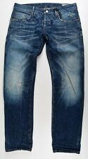 G-Star Raw, 3301 low tapered RL, w33 l32 used vintage Jeans Hose calcetines para vaqueros azul