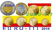 ESPAGNE  2016   LA  SERIE DES  8  PIECES   2016   NEUVES          disponible