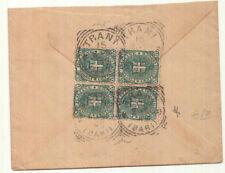 ZZ0623 - UMBERTO QUARTINA SINGOLO ISOLATO SU LETTERA 15-08-1899