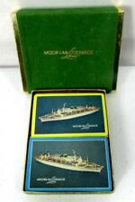 Moore-McCormack Lines Cruise Ship 2 Decks Of Playing Cards Case 4 Jokers Vintage