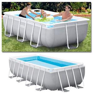 Intex Komplettset Prism Frame Swimming Pool + Filterpumpe + Leiter Schwimmbecken