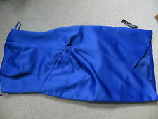 blue party / prom / party dress - knee length pencil slim - size 6-8 Debut - new