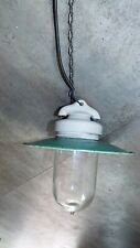 antique Enamel Ceiling Lamps hade Light Porcelain Industrial primiteve french