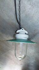 antique Enamel Ceiling Lamps hade Light Porcelain Industrial primiteve french