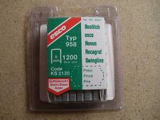6mm 958 STAPLES x 1200 STAPLES, for BOSTITCH, ESCO, NOVUS, SWINGLINE, ROCAGRAF
