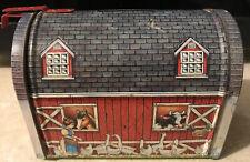 New ListingVintage / Retro - Red Barn Mailbox - Bank / Metal Tin 1960'S