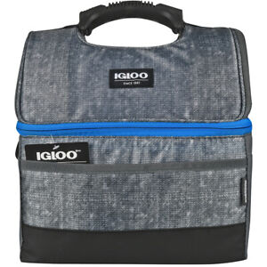 IGLOO MaxCold Gripper 16 Can Lunch Box - Gray