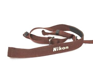 Genuine Nikon AN-4B Brown Camera Neck Strap