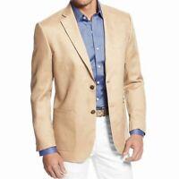 Tasso Elba NEW Beige Tan Mens Size Small S Linen Two Button Blazer $119 #002