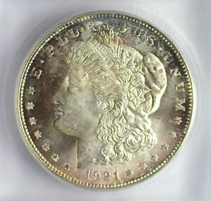 1921-D MORGAN SILVER DOLLAR ICG MS-66+ LISTS FOR $2500