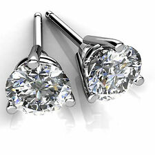 4.00ct Diamond Earrings Stud Solid 14K White Gold Round Cut VVS1/D Women Jewelry