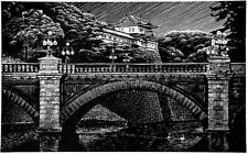 Imperial Palace, Limited Edition Woodblock Print Landscape Signed landscape
