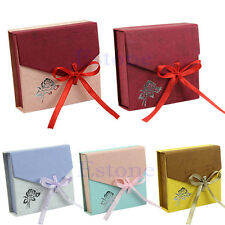 Square Package Bracelet Bangle Jewelry Bowknot Display Box Present Gift Case New