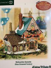 Dept 56 Alpine Village Weihnachten Glashutte Glass Ornament Factory 56.56234