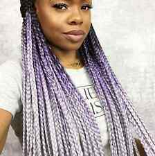 Black Lilac Grey Ombre Jumbo Braid Hair UK Seller Boxbraids Fauxlocs