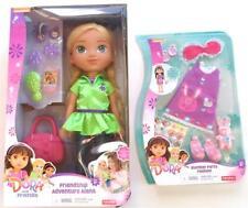 "NIckelodean Dora Explorer Alana Doll 14"" Slumber Party Fashion Set Lot Adventure"