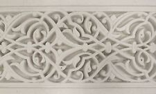 Moroccan Coving Handmade Ceiling & Wall Tile White Gypsum Plaster Dado, Cladding