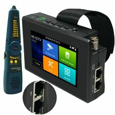 "4"" HD IP CCTV Tester Monitor H.265 4K CVI TVI AHD WIFI Cable Tracer WIFI POE 48V"