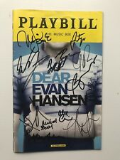 Dear Evan Hansen OBC Playbill SIGNED BY FULL OBC CAST AND CREATIVE - VERY RARE
