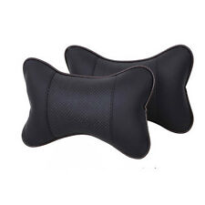 Car Seat Headrest Pad Soft Memory Foam Leather Head Neck Rest Cushion Pillow