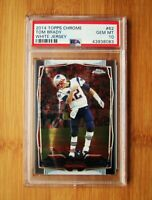 2014 Topps Chrome Variation #62 Tom Brady Patriots PSA 10 GEM MINT