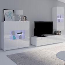 Wohnwand Laurenz VII Schrankwand Hochglanz Wohnzimmer Elegant LED- Beleuchtung