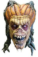 Halloween DARKWALKER 2 EVIL PUMPKIN MONSTER ADULT LATEX DELUXE MASK COSTUME